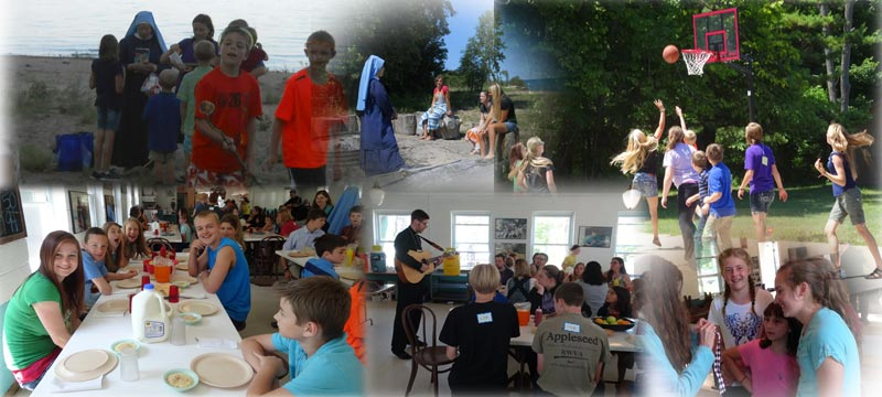 Vocations camp collage
